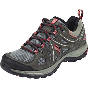 Salomon Ellipse 2 Aero Hiking Shoes Women Castor Gray/Beluga/Mineral Red